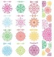 Snowflakes shapesdivider borders setpattern vector image