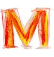 Watercolor Font LETTER M vector image