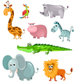 african animal set vector image vector image