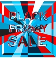 Big ice sale poster with BLACK FRIDAY SALE text vector image