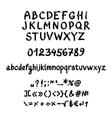 Handwritten gel font vector image vector image