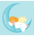 christmas holiday flying angel with wings sleep on vector image