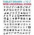 mega collection of hand drawn web icons vector image vector image