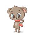 teddy bear with a scarf vector image