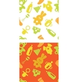 set of babies accessories patterns in green and vector image vector image