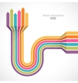 Colorful lines with arrows vector image