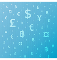 Currency background vector image