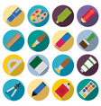 Set of flat painting icons vector