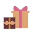 Gft box with ribbon icon vector image