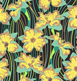 narcissus flower seamless pattern vector image
