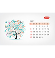 calendar 2012 may Art tree design vector image vector image