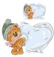 a brown teddy bear makes a vector image