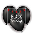 black friday poster with white frame with festoons vector image