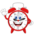 Cartoon happy clock vector image