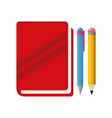 isolated book design vector image