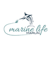 marine life with marlin vector image