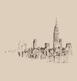 New York city engraving vector image