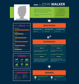 resume page design vector image