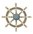 ship steering whee vector image