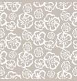 tender grey sketch simple flower pattern vector image