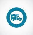 trailer icon bold blue circle border vector image