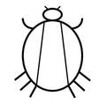 virus and bug icon vector image