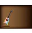 A Beautiful Ukulele Guitar on Brown Background vector image vector image