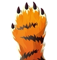 Tiger Raise Hand vector image vector image
