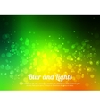 Abstract green colorful bokeh background Festive vector image