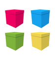 a set of boxes gift on birthday vector image