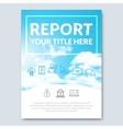 Cloud sky annual report cover brochure vector image