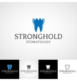 Creative dental logo template orthodontist vector image