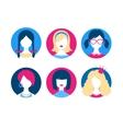 Female avatars vector image