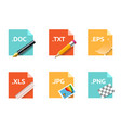 file type icons vector image