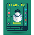 learning idea concept with trendy science icons vector image