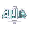 modern city real estate vector image