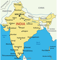 Republic of India - map vector image