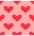 Seamless polygonal heart pattern vector image
