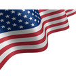 usa flag waving in the wind vector image