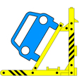Device for lifting a car repair vector image vector image