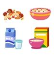 Healthy breakfast food vector image