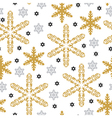 pattern gold snow vector image