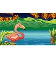 Cartoon Flamingo vector image vector image