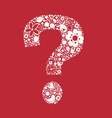 Question floral one color mark vector image vector image