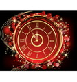 Happy New Year background red and gold vector image vector image