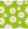 Flora Daisy Seamless Pattern Design vector image