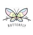 Logo butterfly perched on a branch vector image