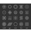 Set of geometric hipster shapes455 vector image