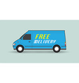 Free delivery car vector image vector image