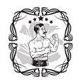 Vintage Boxer Tattoo vector image vector image